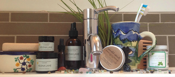 Bathroom Shelf Helena Lane Skincare Products