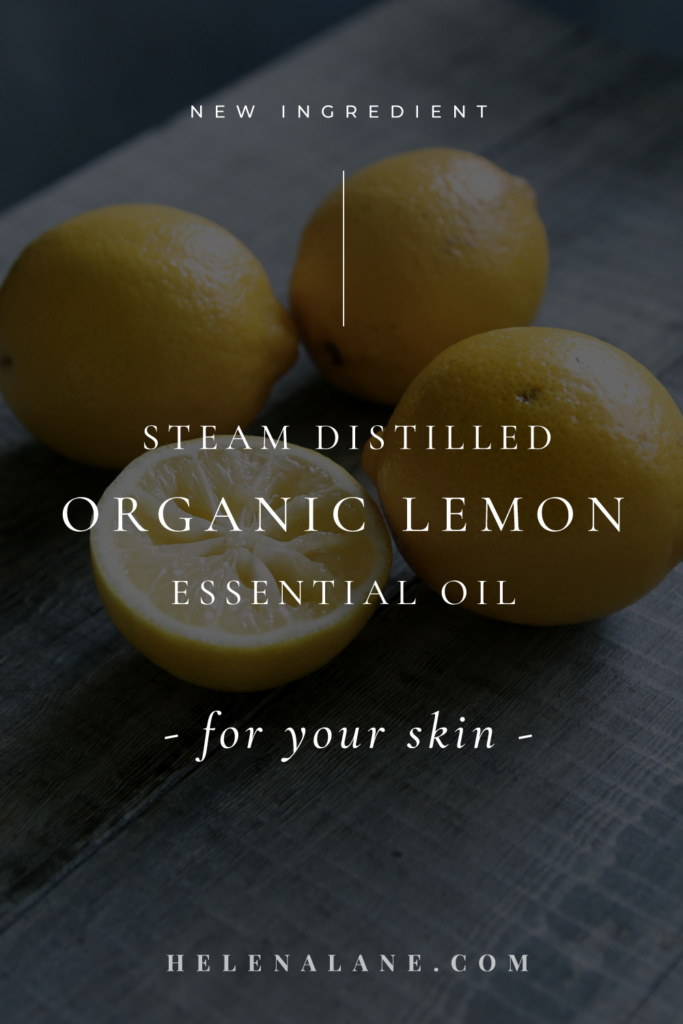 Steam distilled organic lemon essential oil