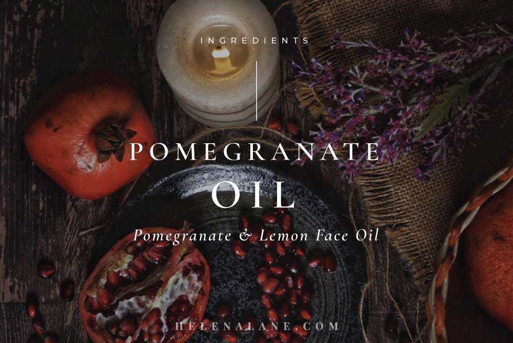 Pomegranate oil for skincare